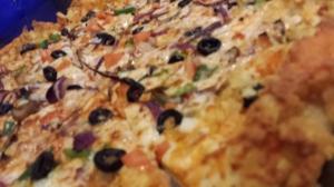 La pizza de vegetales sigue siendo una de mis querendonas. Foto ADH.