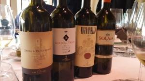 Los últimos vinos de la presentación de Cristina en Il Nuovo Perugino.