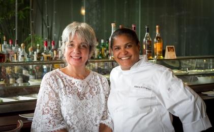 Janice Salinas y la Chef María Franco